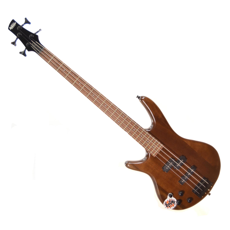 ibanez gsr200bl left handed 4 string electric bass walnut flat the guitar hangar. Black Bedroom Furniture Sets. Home Design Ideas